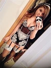 Danni Meow in lingerie taking a selfie