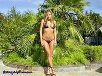 Nicole Graves in a bikini