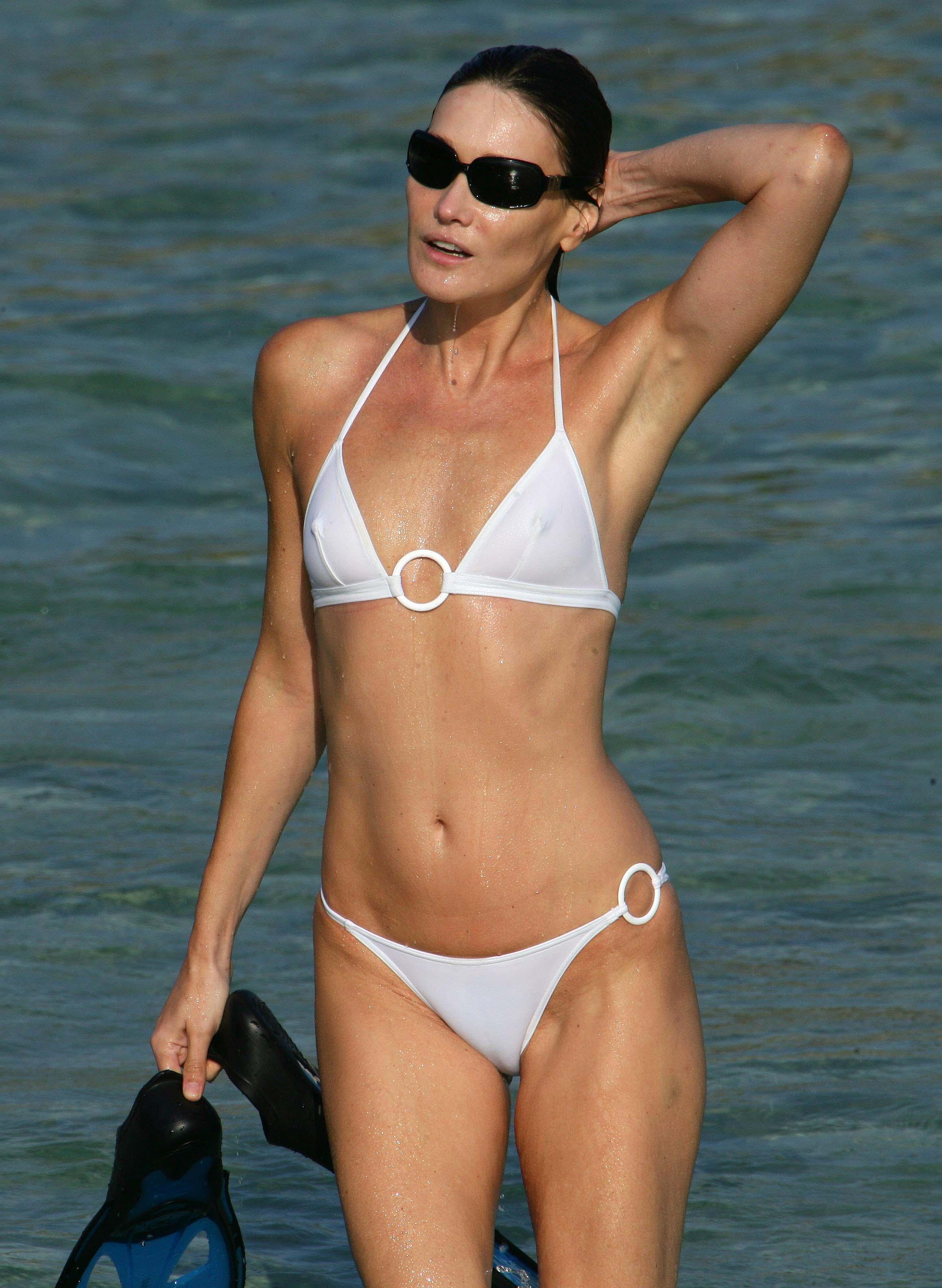 Carla Bruni in a bikini