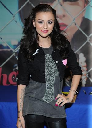 Cher Lloyd poses at Best Buy in New York City August 30, 2012