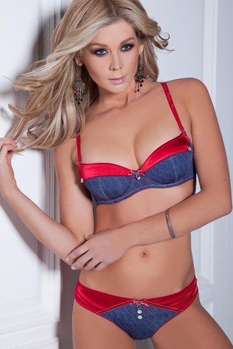 Sheridyn Fisher in lingerie
