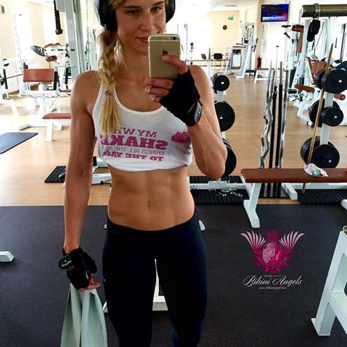 Adrienne Koleszár taking a selfie