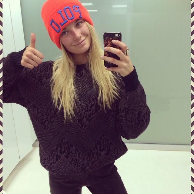 Bridget Malcolm taking a selfie