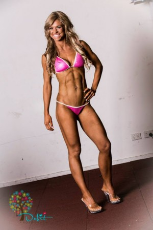 Hollie Attwood in a bikini