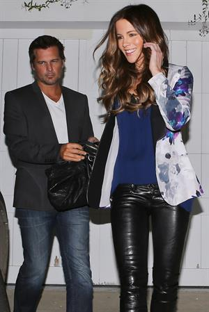 Kate Beckinsale going out for dinner on Halloween night in Brentwood 10/31/12