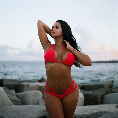 Analicia Chaves in a bikini