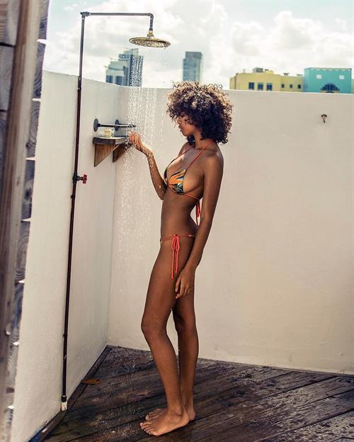 Tina Brady in a bikini