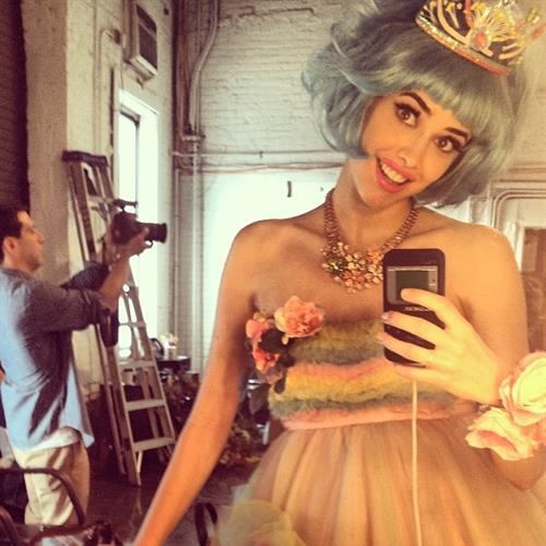 Sarah Stephens taking a selfie