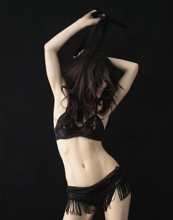 Jaime Murray in lingerie