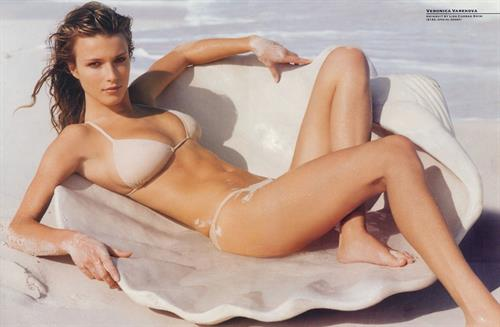 Veronika Vařeková in a bikini