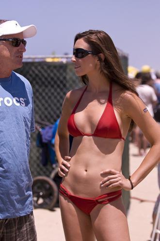 Michelle More in a bikini