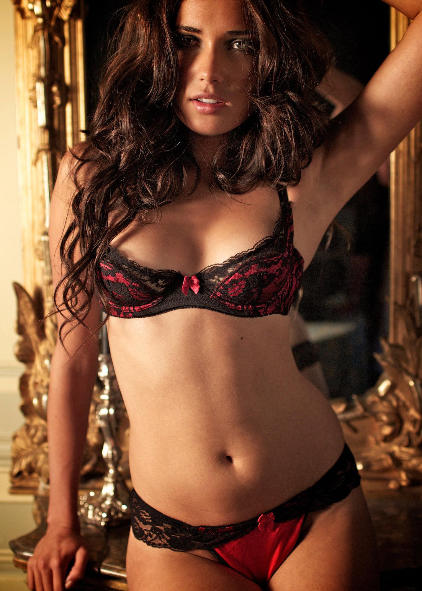 Larisa Fraser in lingerie
