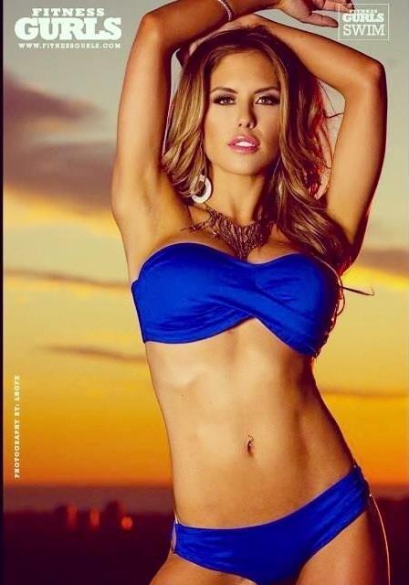 Brittney Palmer in a bikini