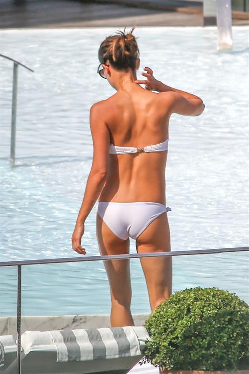 Alicia Vikander in a bikini - ass