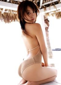 Aya Kiguchi in lingerie - ass