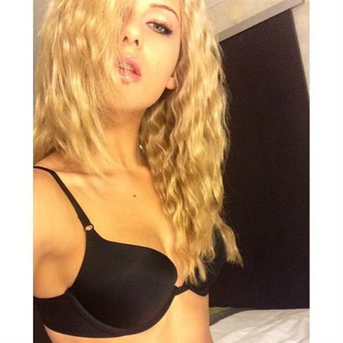 Audrey Allen in lingerie taking a selfie