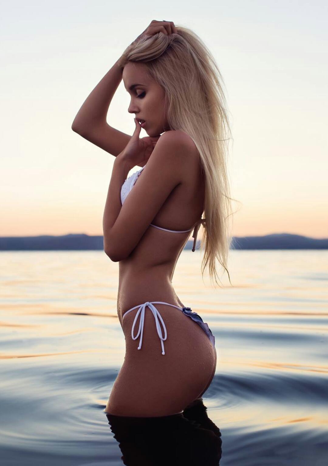 Maria Miri Domark in a bikini