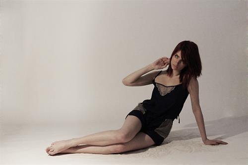 Susan Coffey in lingerie