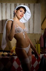 Sabine Mallory in lingerie