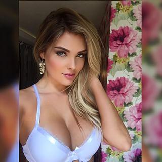 Sarah Louise Harris in lingerie taking a selfie