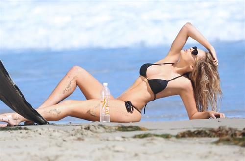 Sarah Louise Harris in a bikini