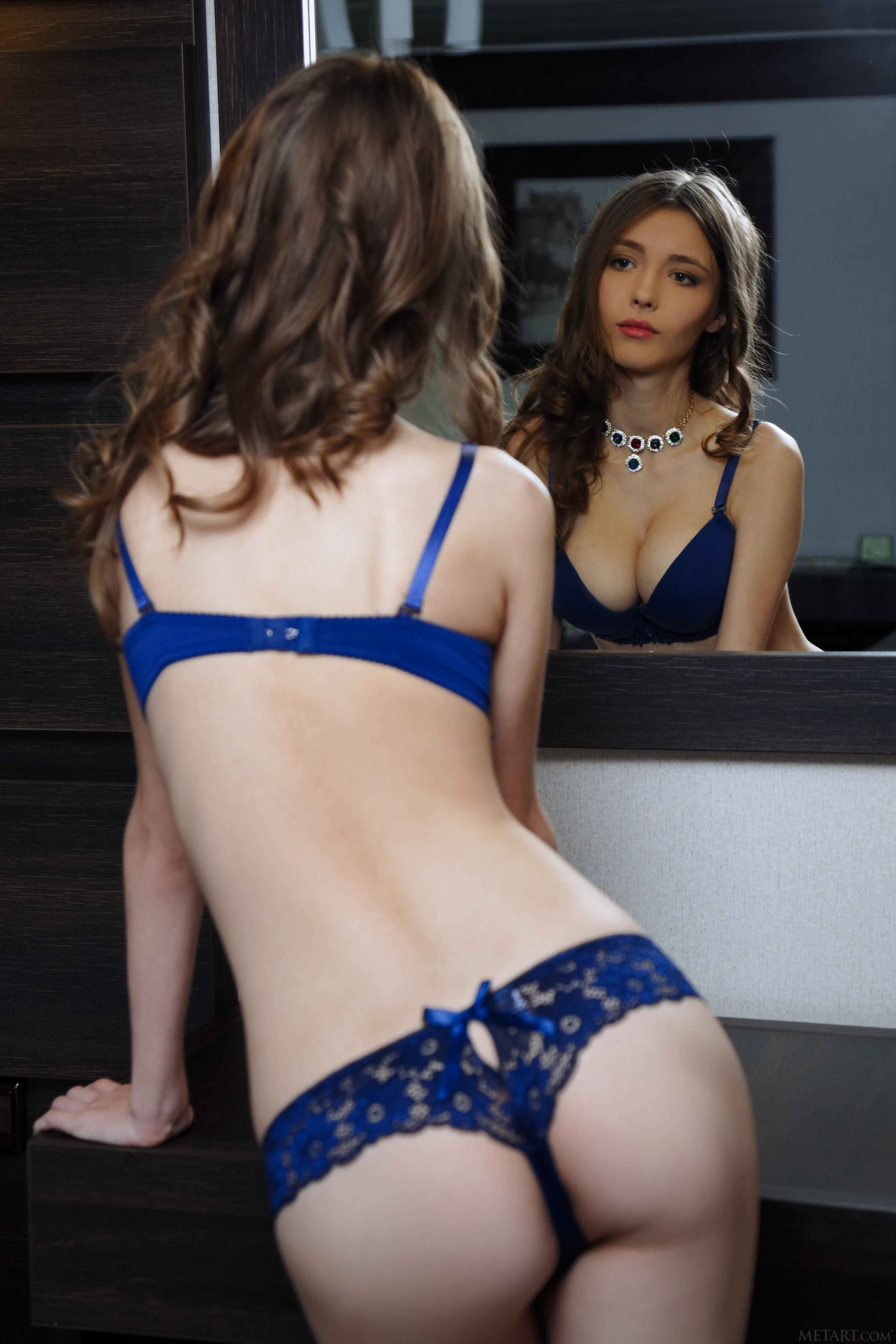 Mila Azul in lingerie - ass