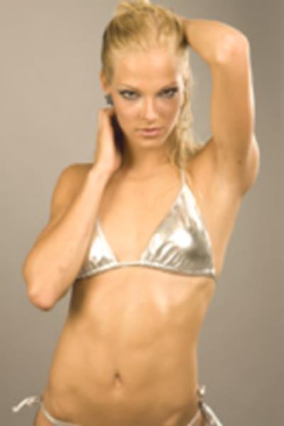 Darya Klishina in a bikini