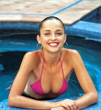 Carla Alapont in a bikini