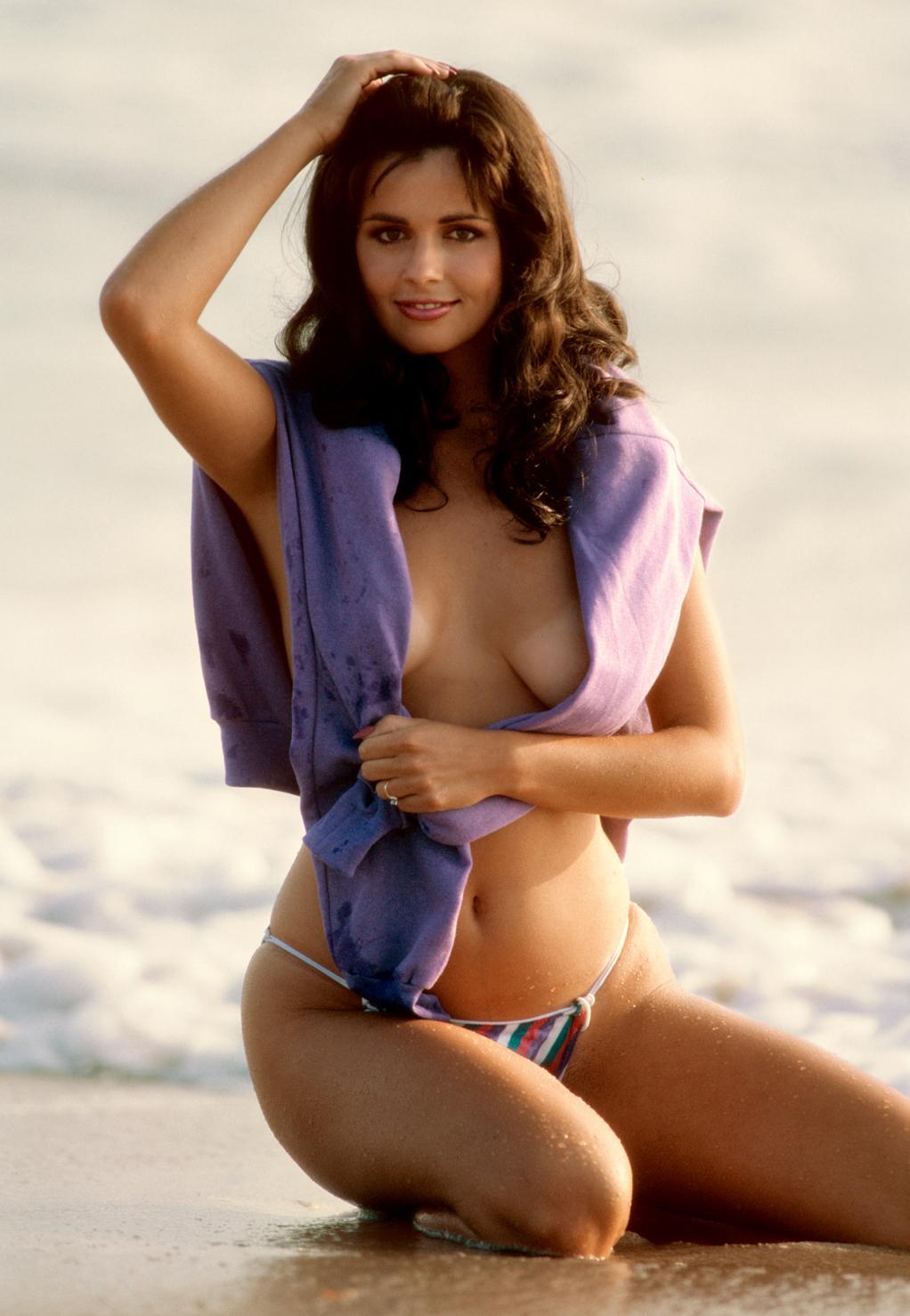 Bridgette Monet in a bikini