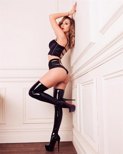 Emily Scott in lingerie