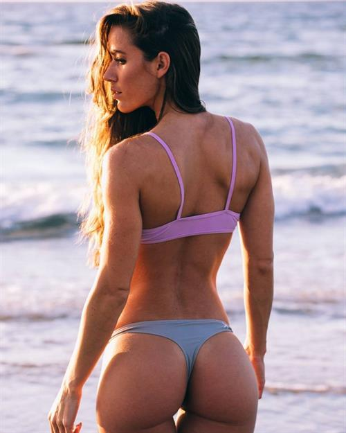 Valentina Lequeux in a bikini - ass