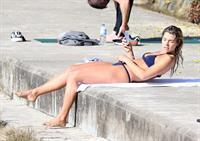 Ashley Hart in a bikini on Bondi Beach in Sydney - 8/15/16