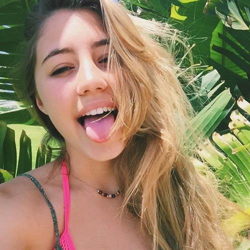 Lia Marie Johnson taking a selfie