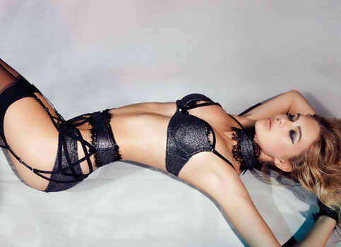 Megan Williams in lingerie