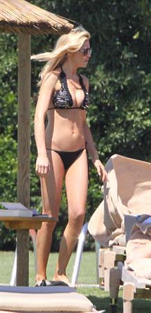 Abigail Clancy bikini candids in Italy on June 10, 2011