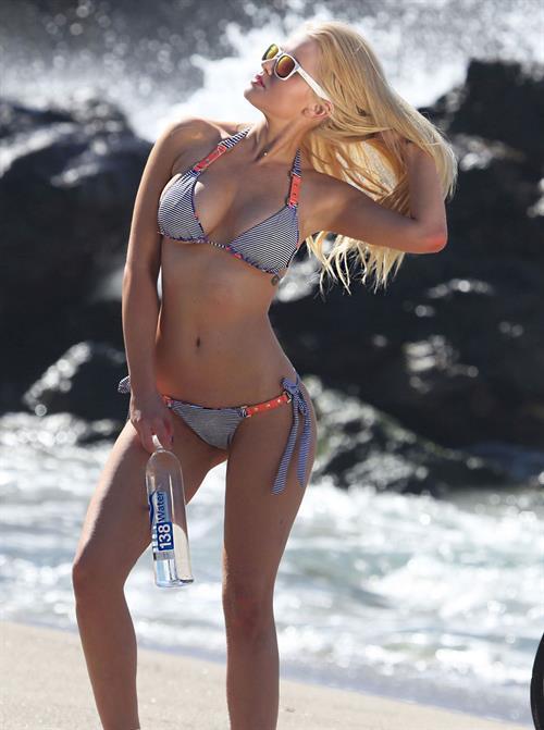 Anna Sophia Berglund in a bikini