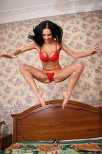 Evgeniya Diordiychuk in lingerie