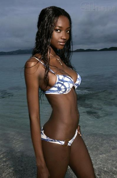 Oluchi Onweagba in a bikini