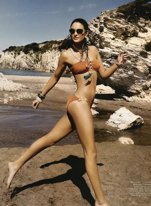 Violet Budd in a bikini