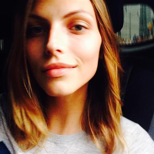 Karlina Caune taking a selfie