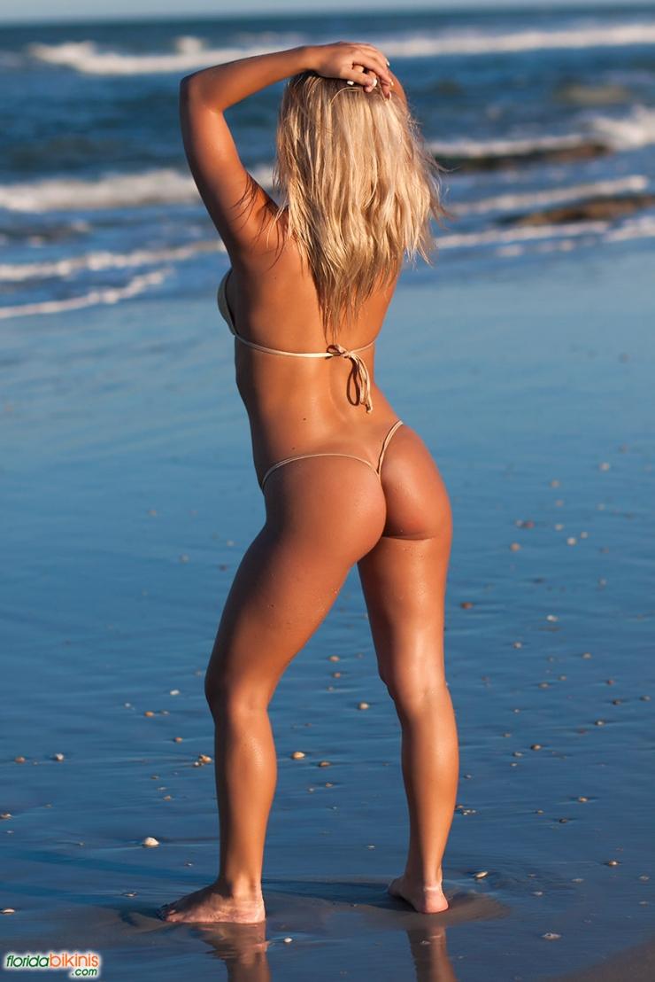 Nicole Hampton in a bikini - ass
