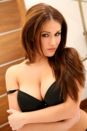 Lucy Pinder in sexy black lingerie