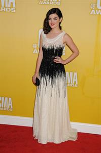 Lucy Hale at the 46th annual CMA awards