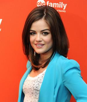 Lucy Hale at the ABC Family Upfronts