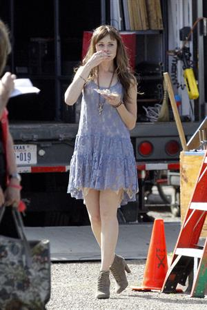 Alexis Bledel on the set of 'Remember Sunday' in New Orleans January 25, 2013