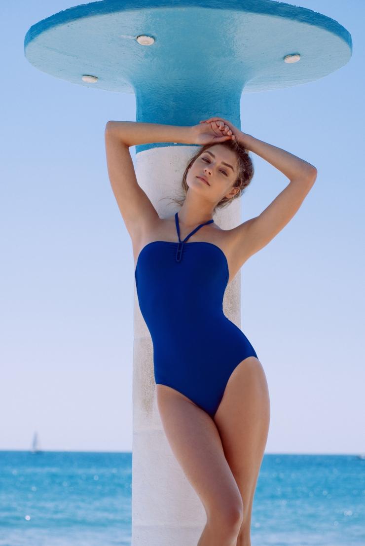Vika Levina in a bikini