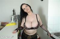 Lisa Frelin in lingerie