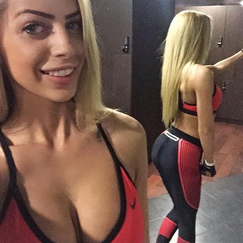 Yanita Yancheva taking a selfie and - ass