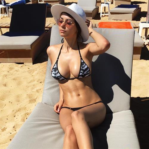 Helga Lovekaty in a bikini