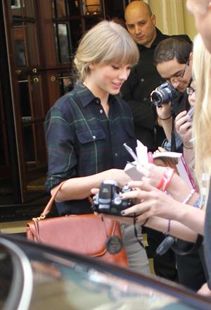 Taylor Swift leaving her hotel in London 10/6/12